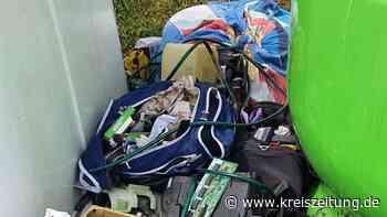 Anwohner verärgert: Illegale Müllentsorgung an Glascontainern in Drebber - kreiszeitung.de