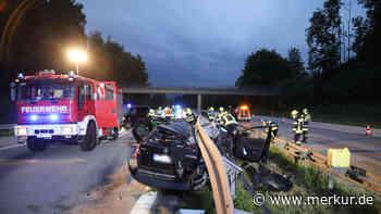 A95/Penzberg: Horror-Szenario auf Autobahn: Reifen platzt bei Tempo 180 - Fahrer verliert die Kontrolle - Merkur.de