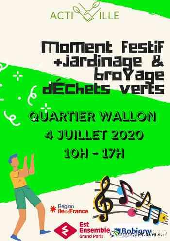 Compostage Quartier Wallon, Bobigny Composteur quartier Wallon samedi 4 juillet 2020 - Unidivers