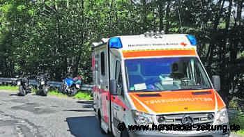 Schwerer Unfall bei Neuenstein: Biker verliert die Kontrolle - Hersfelder Zeitung