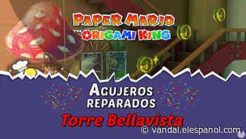 TODOS los agujeros en Torre Bellavista de Paper Mario The Origami King - Vandal