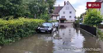 Laupheim: Starkregen sorgt erneut für Hochwasser am Lindenplatz - Schwäbische