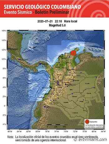 Temblor de 5.4 sacude suroeste de Sinamaica en el estado Zulia - evtvmiami.com