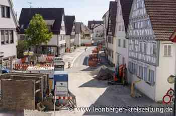 Hauptstraße in Renningen: Schmalere Straße, mehr Platz für Gehwege - Renningen - Leonberger Kreiszeitung