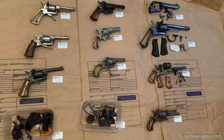 Antique pistols 'destined for London gangs' found in Enfield house