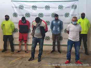 Capturan a cuatro hombres por robar 60 millones de pesos en Oporapa - Diario del Huila