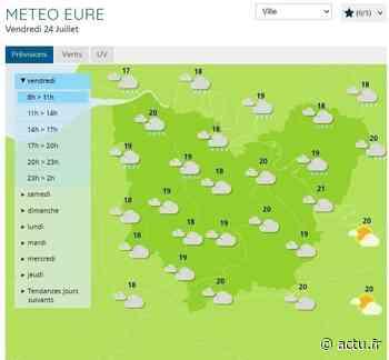 La météo du vendredi 24 juillet à Pont-Audemer - L'Eveil de Pont-Audemer