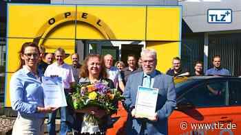 Ehrung für Autohaus in Waltershausen - Thüringische Landeszeitung