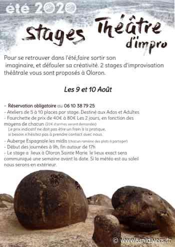 Stage – Théatre d'impro lundi 10 août 2020 - Unidivers