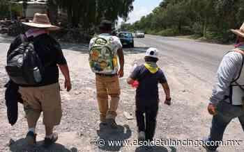 Llegan peregrinos en grupos pequeños a Tepeji del Río - El Sol de Tulancingo