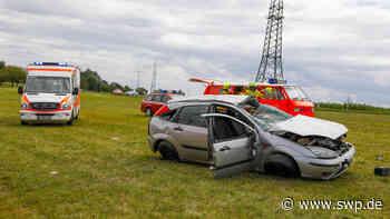 Unfall Geislingen-Türkheim: Auto überschlägt sich bei Wittingen: Insassen schwer verletzt - SWP