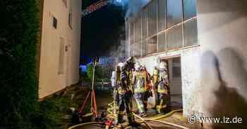 Großbrand in der Innenstadt von Salzkotten - Lippische Landes-Zeitung
