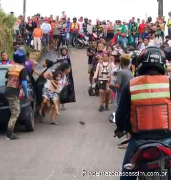 Mulher flagra suposta amante com o marido e dá pití em Manacapuru - No Amazonas é assim