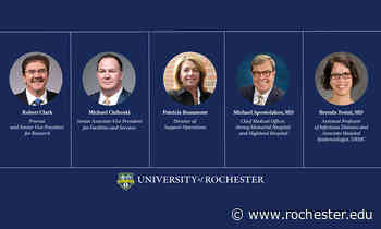 Restart: Provost webinar outlines health and safety protocols for fall - University of Rochester