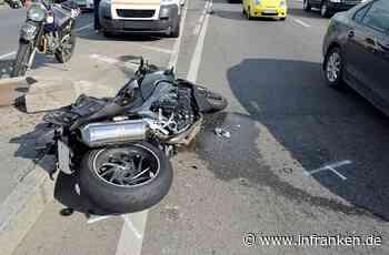 Tödlicher Unfall in Erlangen: Motorradfahrer stirbt