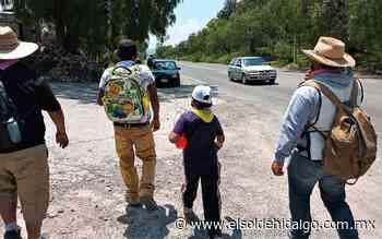 Arriban peregrinos a Tepeji del Río - El Sol de Hidalgo