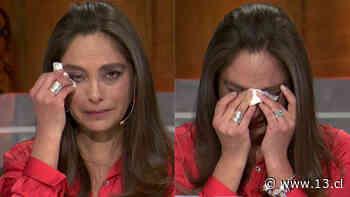"""Ángeles Araya no aguantó las lágrimas al recordar a su mamá en """"Aquí somos todos"""" - 13.cl"""