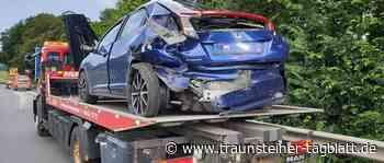 Siegsdorf: Schwerer Auffahrunfall beim Überholen auf A8 fordert vier Verletzte - Traunsteiner Tagblatt
