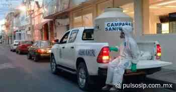 Sanitizan espacios públicos en Cerritos - Pulso de San Luis