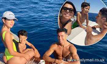 Cristiano Ronaldo's partner Georgina Rodriguez sizzles in a thong swimsuit on luxury yacht - Daily Mail
