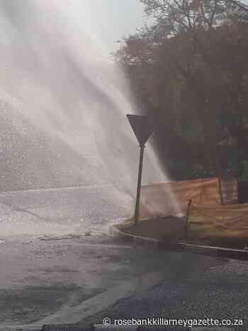 Major pipe burst in Melrose leaves residents without water - Rosebank Killarney Gazette