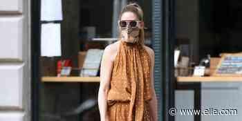 Olivia Palermo con el vestido largo de lunares marrón a lo 'Pretty Woman' más bonito del verano - elle.com