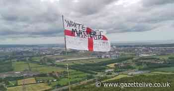 St George Cross daubed with 'White Lives Matter' removed from Eston Nab - Teesside Live
