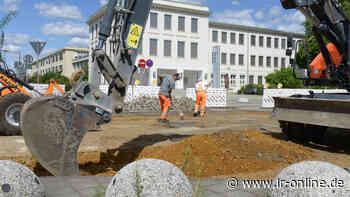 Baustelle: Großenhainer Straße in Senftenberg wird leiser - Lausitzer Rundschau