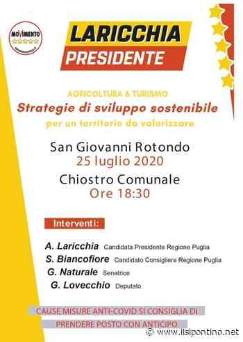 Antonella Laricchia domani a San Giovanni Rotondo - ilsipontino.net