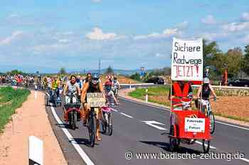 Mehr als 300 Teilnehmer bei Fahrraddemo in Staufen - Staufen - Badische Zeitung