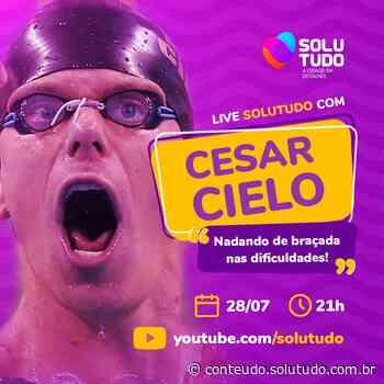 """César Cielo e Solutudo Atibaia apresentam a live """"Nadando de braçada nas dificuldades"""" - Solutudo - A Cidade em Detalhes"""