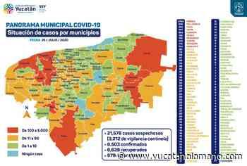 Solamente 4 municipios de Yucatán permanecen libres de coronavirus - Yucatán a la mano