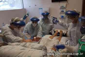 Paciente com coronavírus recebe homenagem de aniversário no Hospital Santa Isabel - Jornal Floripa