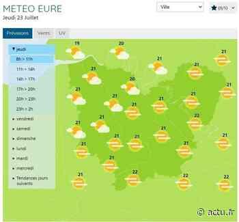 La météo du jeudi 23 juillet à Pont-Audemer - L'Eveil de Pont-Audemer