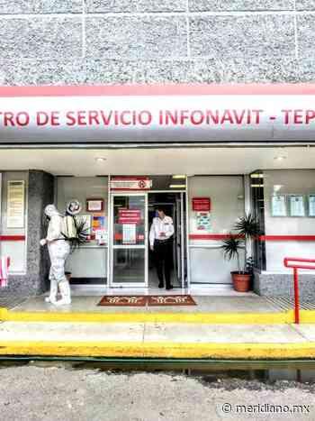 Protección Civil de Tepic sanitiza oficinas de Infonavit y SUTSEM - Meridiano.mx