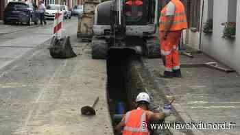 Laventie: tout ce qu'il faut savoir sur le chantier d'assainissement en cours rue De-Gaulle - La Voix du Nord