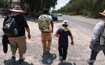 Pasan peregrinos por Tepeji del Río - El Sol de Hidalgo