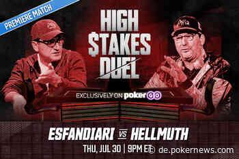 """Esfandiari vs. Hellmuth bei der neuen PokerGO """"High Stakes Duel"""" Show"""