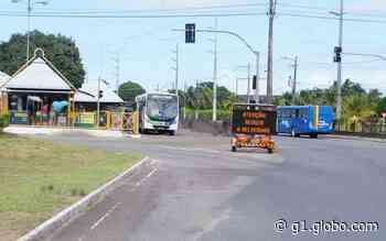 Rotatória do Terminal DIA, em Aracaju, é interditada para recapeamento - G1