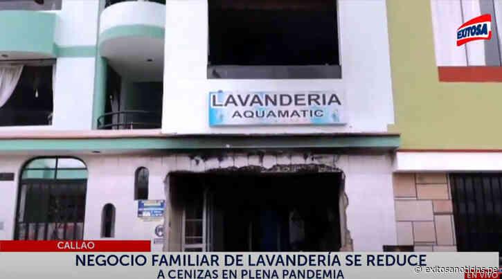 Callao: Incendio consumió todo el local de una lavandería en Bellavista - exitosanoticias