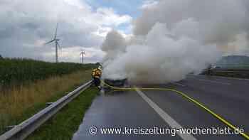 Pkw-Brand auf A7 bei Ramelsloh - Seevetal - Kreiszeitung Wochenblatt