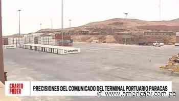 Cuarto Poder responde a carta enviada por el Terminal Portuario de Paracas - América Televisión