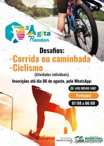 3° Agita Rondon: Marechal abre inscrições para o desafio de ciclismo, corrida ou caminhada - O Paraná