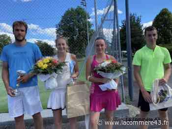 Tennis : Jacques Torrilhon et Chloé Bonneau s'adjugent le tournoi de Craponne - La Commère 43