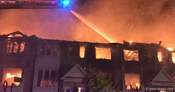 Here's what's known about the massive townhouse fires in Richmond Hill and Hamilton - blogTO