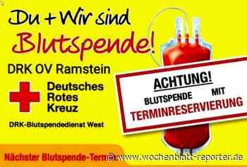 Blutspende: Blutspendetermin beim DRK Ortsverein Ramstein - Ramstein-Miesenbach - Wochenblatt-Reporter