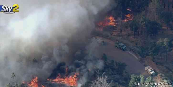 Ridge Fire Burns 310 Acres In Gorman, Portions Of Highway 138 To Remain Closed Overnight