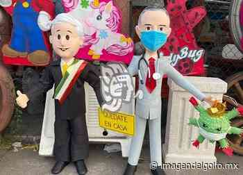 Piñatas de López-Gatell y AMLO, las más vendidas en Veracruz Puerto - Imagen del Golfo