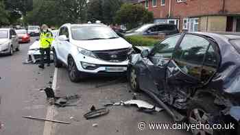 Several vehicles involved in crash in Kendal Avenue, Millbrook - Daily Echo