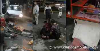 Hombre ebrio y mujer destrozan puesto de tacos en Tejalpa, Jiutepec - Diario de Morelos
